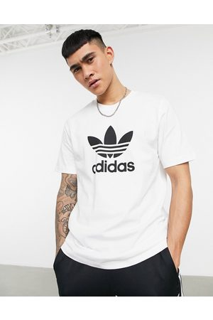 adidas Adicolor t-shirt in white with large logo