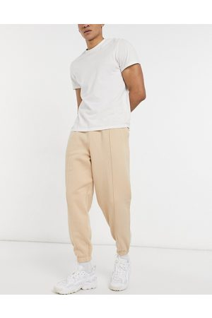 ASOS Oversized joggers with pin tuck in beige