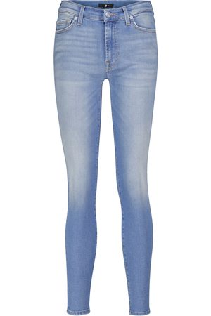 7 for all Mankind Kadın Skinny - Slim Illusion Necessity mid-rise skinny jeans