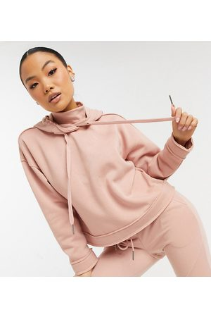 Noisy May Hoodie with high neck co-ord in pink