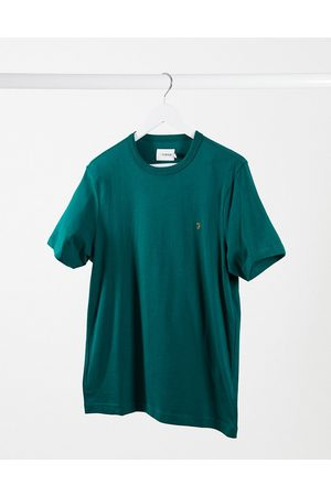 Farah Erkek Kısa Kollu Tişörtler - Danny organic cotton t-shirt in dark green