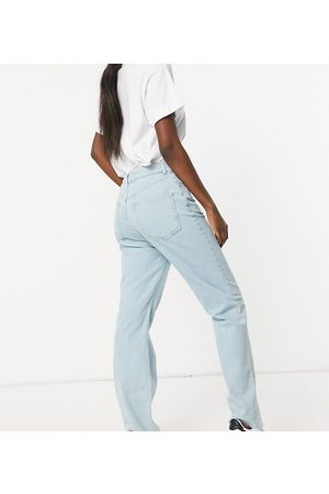 ASOS Tall ASOS DESIGN Tall high rise stretch 'effortless' crop kick flare jeans in pretty lightwash-Blue