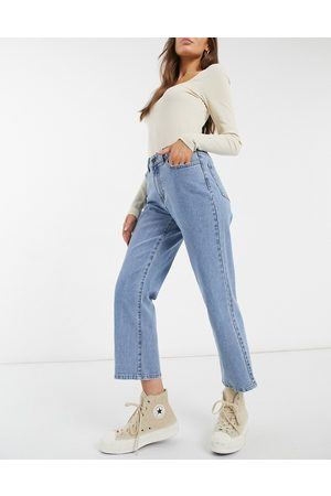Object Moji straight leg jean in blue