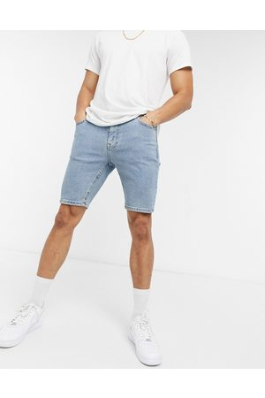 ASOS Skinny denim shorts in flat light blue wash
