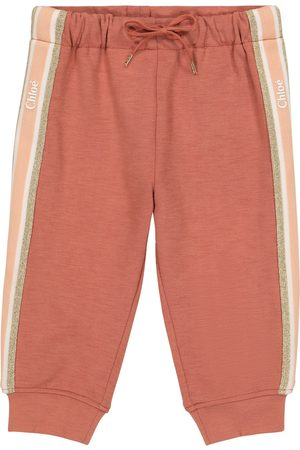 Chloé Baby cotton-trimmed trackpants