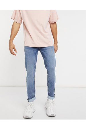 Only & Sons Jog jeans in slim fit mid blue