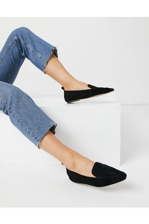 ASOS Miley suede loafers in black