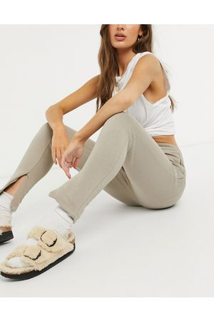 The Couture Club Co-ord archive logo high waisted tracksuit joggers-Beige