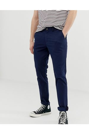 Jack & Jones Intelligence slim fit chinos in navy
