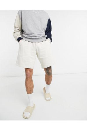 ASOS Oversized jersey shorts in beige