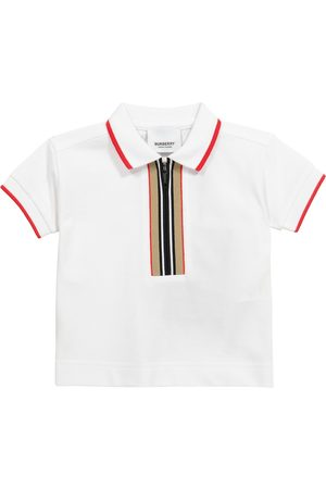 Burberry Baby Icon Stripe cotton piqué polo shirt