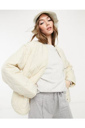 & OTHER STORIES Recycled quilted jacket in beige