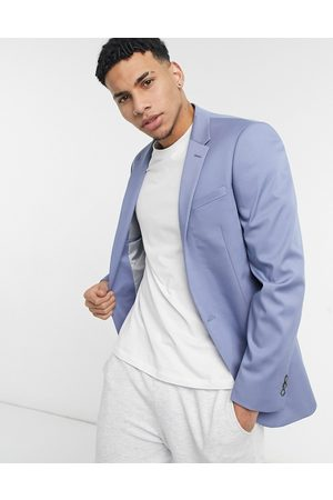 River Island Slim suit jacket in blue