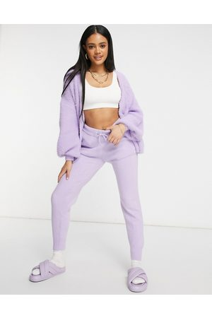 Missguided Co-ord joggers in lilac-Purple