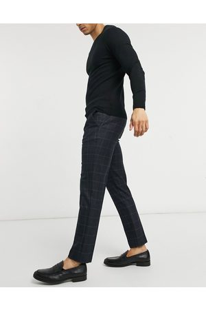 River Island Skinny smart trousers in navy check
