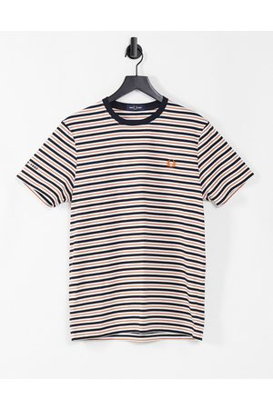 Fred Perry Fine stripe t-shirt in white