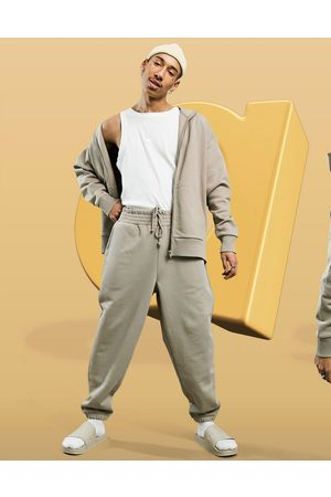 ASOS Co-ord heavyweight oversized joggers in washed out brown