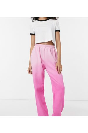 Loose Threads Relaxed lounge joggers in ombre co-ord-White