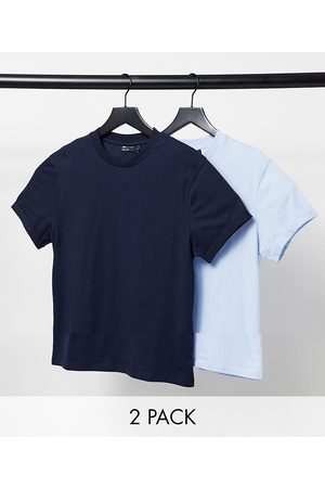 ASOS 2 pack organic t-shirt with roll sleeve-Multi