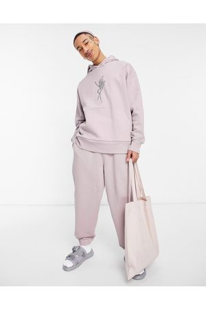 ASOS Co-ord heavyweight oversized joggers in dusty pink