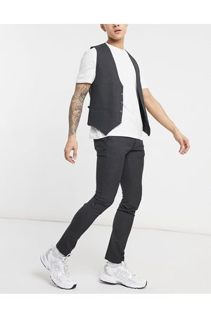 adidas Plain skinny suit trousers in grey