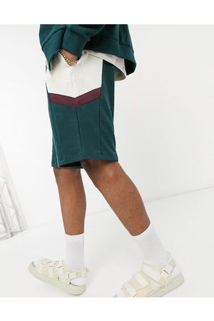 ASOS Co-ord oversized shorts in colour block-Green
