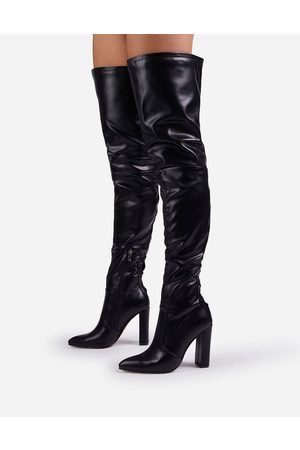 Ego X Molly-Mae Invasion over the knee boots in black