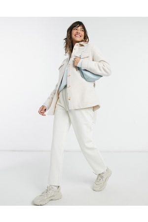 & OTHER STORIES Recycled overshirt jacket in off white