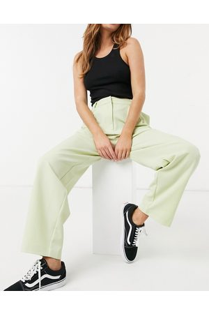 Y.A.S Tapered tailored trouser co-ord in light green
