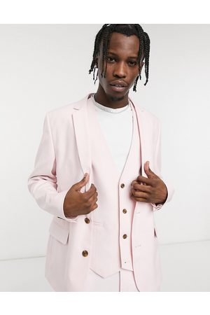 ASOS Wedding skinny suit jacket in rose pink