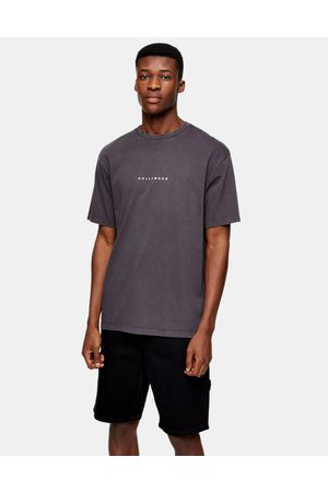 Topman Hollywood puff print t-shirt in washed black