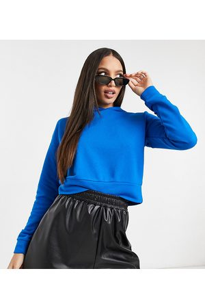 Noisy May Cropped hoodie in bright blue
