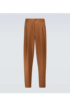 King and Tuckfield Pleated wool pants