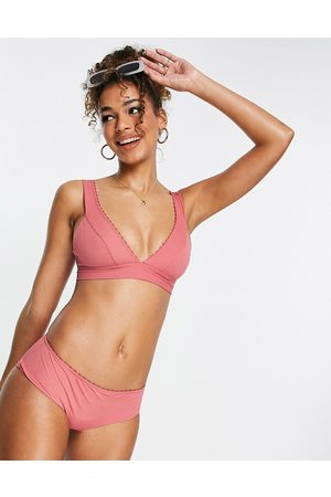 & OTHER STORIES Recycled highwaist bikini bottoms in dusty pink