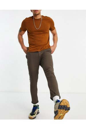 ASOS Super skinny cropped chinos in brown