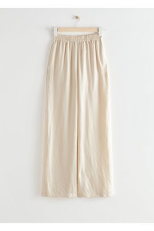 & OTHER STORIES Relaxed Drawstring Trousers - Beige