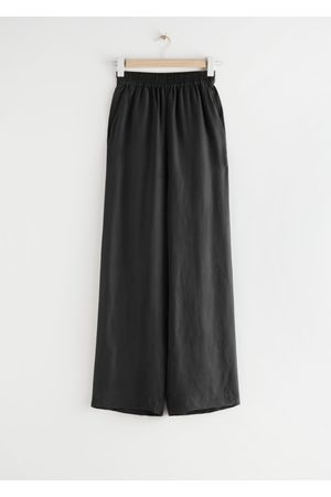 & OTHER STORIES Relaxed Drawstring Trousers - Black