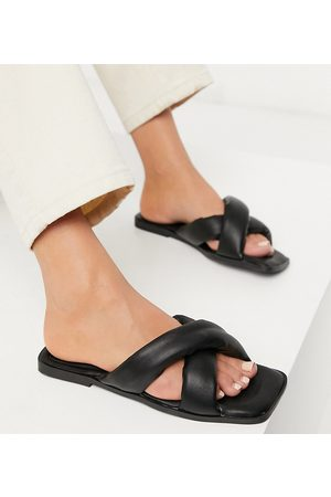 South Beach Exclusive padded slide sandals in black