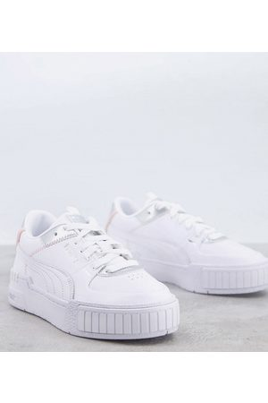 PUMA Cali Sport trainers in white and silver - exclusive to ASOS