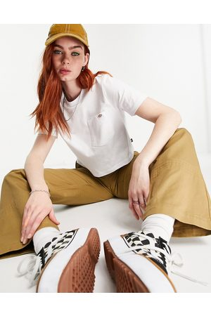 Dickies Porterdale cropped t-shirt in white