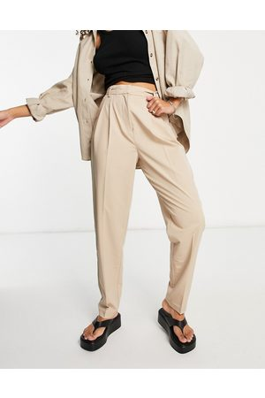 Object Co-ord tailored trouser in beige-Neutral