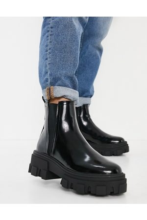 ASOS Addy chunky chelsea boots in black