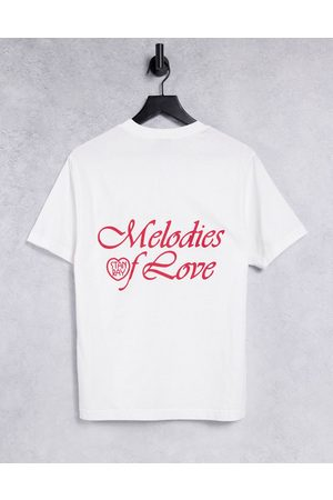 Stan Ray T-shirt with melodies of love back print in white