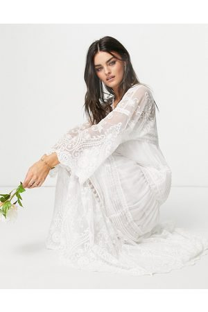 Y.A.S Bridal maxi dress in boho lace in white