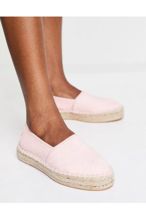 South Beach Towelling espadrilles in peach-Pink