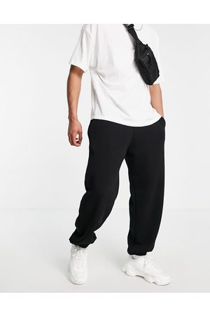 River Island Oversized joggers in black