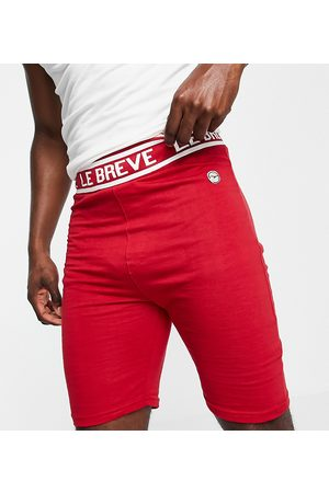 Le Breve Tall lounge co-ord shorts in red