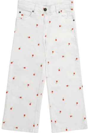Stella McCartney Embroidered floral jeans