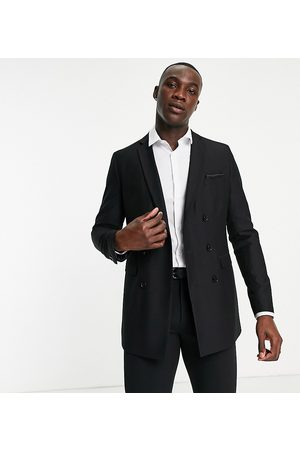 French Connection Tall slim fit plain suit jacket-Black