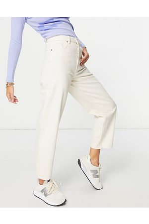 & OTHER STORIES Major organic cotton high waist tapered leg jeans in ecru-Neutral